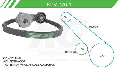 Imagen de Kit de Accesorios con Banda Poly-V KPV-070-1