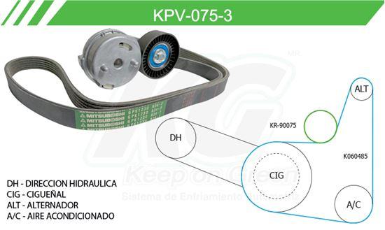 Imagen de Kit de Accesorios con Banda Poly-V KPV-075-3