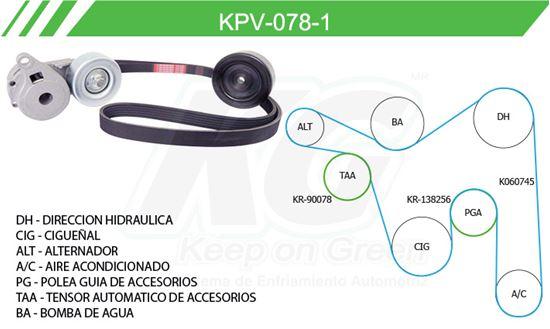 Imagen de Kit de Accesorios con Banda Poly-V KPV-078-1