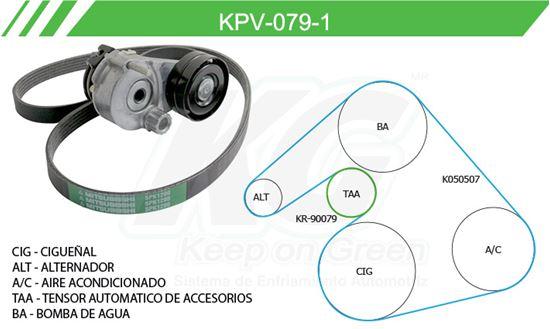 Imagen de Kit de Accesorios con Banda Poly-V KPV-079-1