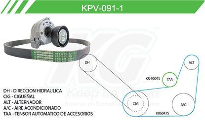 Imagen de Kit de Accesorios con Banda Poly-V KPV-091-1