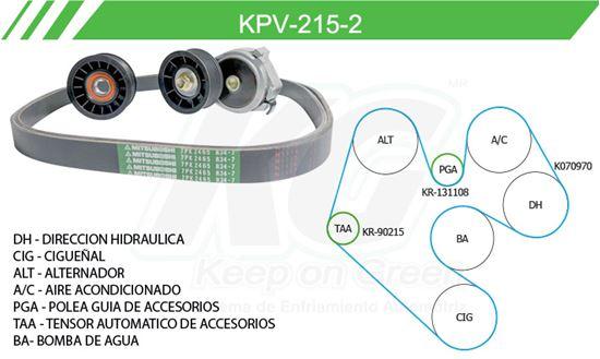 Imagen de Kit de Accesorios con Banda Poly-V KPV-215-2