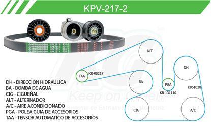Imagen de Kit de Accesorios con Banda Poly-V KPV-217-2