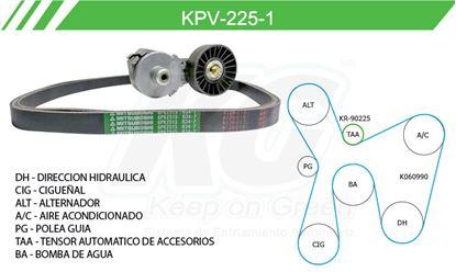 Imagen de Kit de Accesorios con Banda Poly-V KPV-225-1