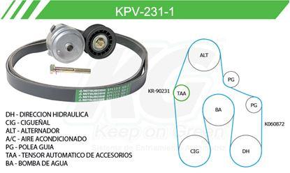 Imagen de Kit de Accesorios con Banda Poly-V KPV-231-1