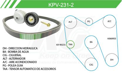 Imagen de Kit de Accesorios con Banda Poly-V KPV-231-2