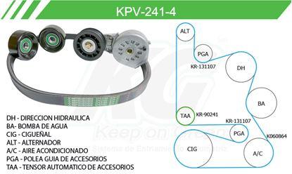 Imagen de Kit de Accesorios con Banda Poly-V KPV-241-4