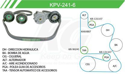 Imagen de Kit de Accesorios con Banda Poly-V KPV-241-6