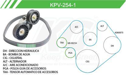 Imagen de Kit de Accesorios con Banda Poly-V KPV-254-1