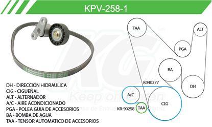 Imagen de Kit de Accesorios con Banda Poly-V KPV-258-1