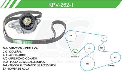 Imagen de Kit de Accesorios con Banda Poly-V KPV-262-1