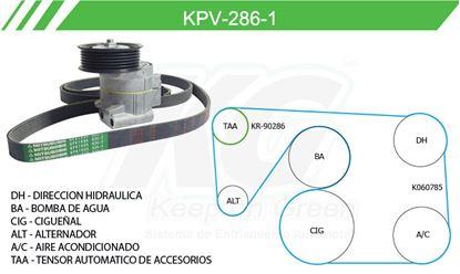 Imagen de Kit de Accesorios con Banda Poly-V KPV-286-1