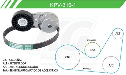 Imagen de Kit de Accesorios con Banda Poly-V KPV-316-1