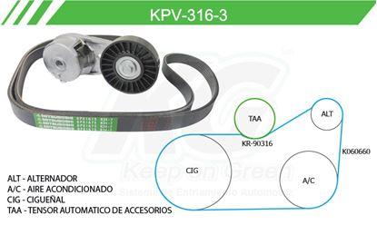 Imagen de Kit de Accesorios con Banda Poly-V KPV-316-3