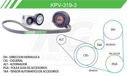 Imagen de Kit de Accesorios con Banda Poly-V KPV-319-3