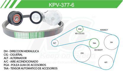 Imagen de Kit de Accesorios con Banda Poly-V KPV-377-6