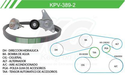 Imagen de Kit de Accesorios con Banda Poly-V KPV-389-2