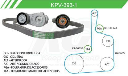Imagen de Kit de Accesorios con Banda Poly-V KPV-393-1