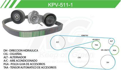 Imagen de Kit de Accesorios con Banda Poly-V KPV-511-1