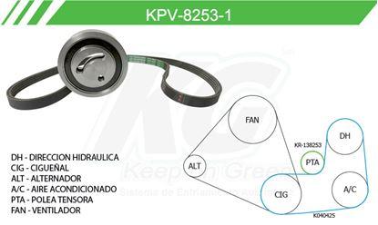 Imagen de Kit de Accesorios con Banda Poly-V KPV-8253-1