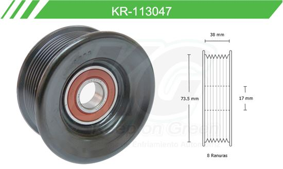 Imagen de Poleas de Accesorios y Distribución KR-113047