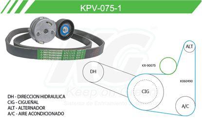 Imagen de Kit de Accesorios con Banda Poly-V KPV-075-1