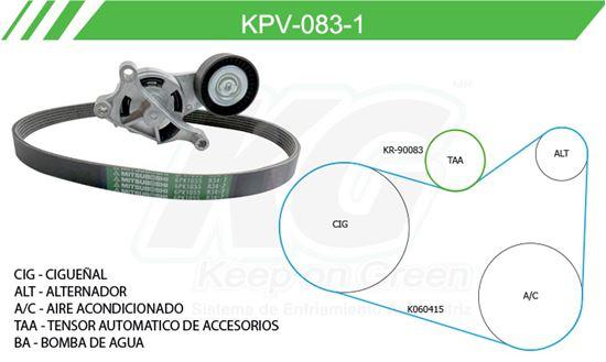 Imagen de Kit de Accesorios con Banda Poly-V KPV-083-1