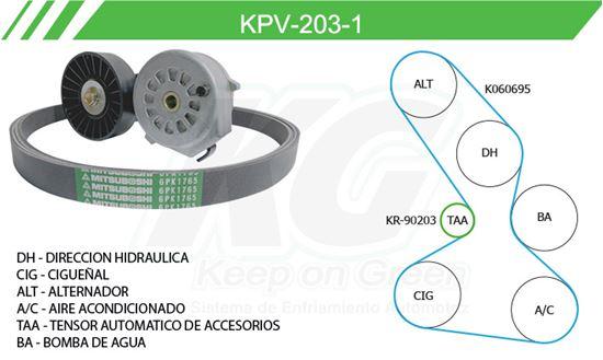 Imagen de Kit de Accesorios con Banda Poly-V KPV-203-1