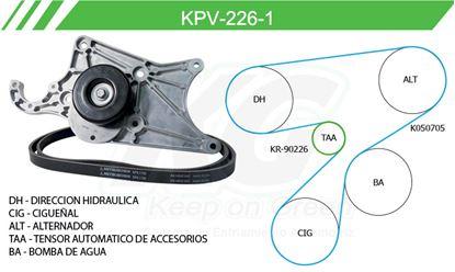 Imagen de Kit de Accesorios con Banda Poly-V KPV-226-1