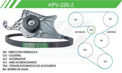 Imagen de Kit de Accesorios con Banda Poly-V KPV-226-2