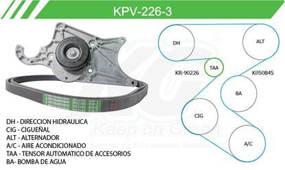 Imagen de Kit de Accesorios con Banda Poly-V KPV-226-3