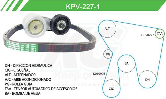 Imagen de Kit de Accesorios con Banda Poly-V KPV-227-1