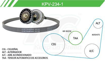 Imagen de Kit de Accesorios con Banda Poly-V KPV-234-1