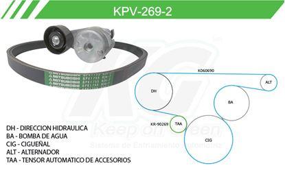 Imagen de Kit de Accesorios con Banda Poly-V KPV-269-2
