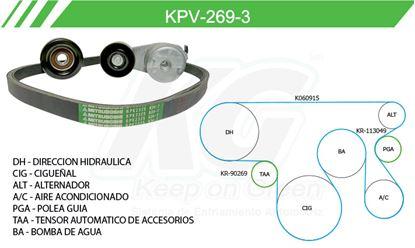 Imagen de Kit de Accesorios con Banda Poly-V KPV-269-3