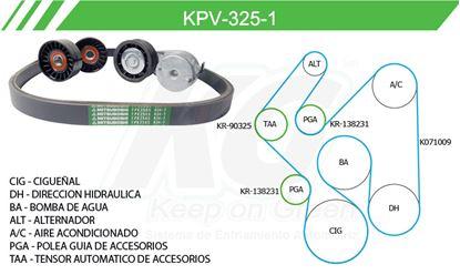 Imagen de Kit de Accesorios con Banda Poly-V KPV-325-1