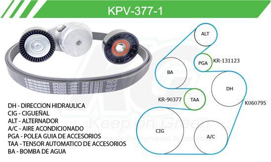 Imagen de Kit de Accesorios con Banda Poly-V KPV-377-1