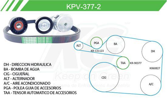 Imagen de Kit de Accesorios con Banda Poly-V KPV-377-2