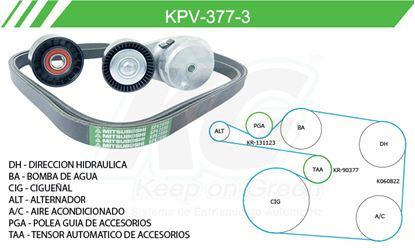 Imagen de Kit de Accesorios con Banda Poly-V KPV-377-3