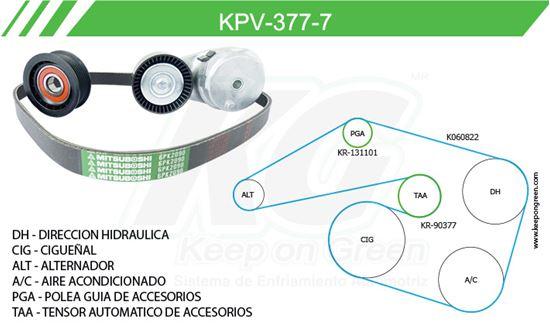 Imagen de Kit de Accesorios con Banda Poly-V KPV-377-7