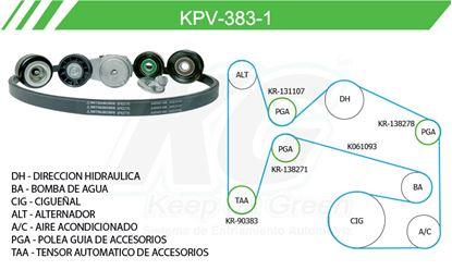 Imagen de Kit de Accesorios con Banda Poly-V KPV-383-1