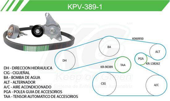 Imagen de Kit de Accesorios con Banda Poly-V KPV-389-1