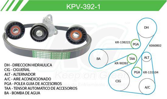 Imagen de Kit de Accesorios con Banda Poly-V KPV-392-1