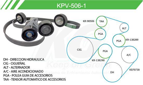 Imagen de Kit de Accesorios con Banda Poly-V KPV-506-1