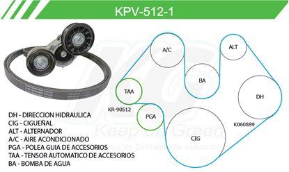 Imagen de Kit de Accesorios con Banda Poly-V KPV-512-1