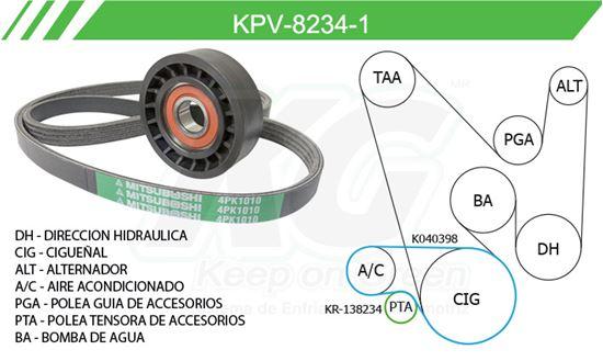 Imagen de Kit de Accesorios con Banda Poly-V KPV-8234-1