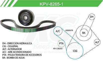 Imagen de Kit de Accesorios con Banda Poly-V KPV-8265-1