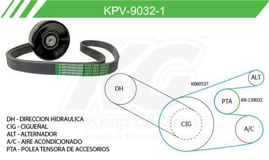 Imagen de Kit de Accesorios con Banda Poly-V KPV-9032-1