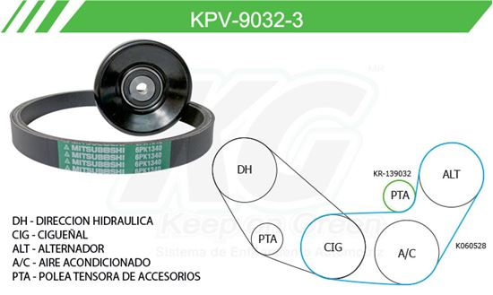 Imagen de Kit de Accesorios con Banda Poly-V KPV-9032-3