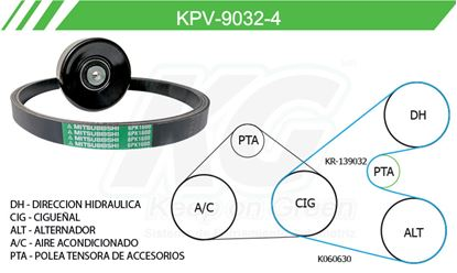 Imagen de Kit de Accesorios con Banda Poly-V KPV-9032-4